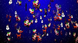 Christmas 25 reindeers santa snowman Animation