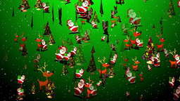 Christmas 27 reindeer santa tree Stock Video Footage