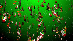 Christmas 27 reindeer santa tree Stock Video Footage