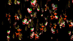 Christmas 29 alpha reindeer santa tree Stock Video Footage