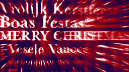 Merry Christmas Multilingual Design v3 05 Stock Video Footage