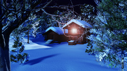 Christmas Snowy Scene dolly 06 Stock Video Footage