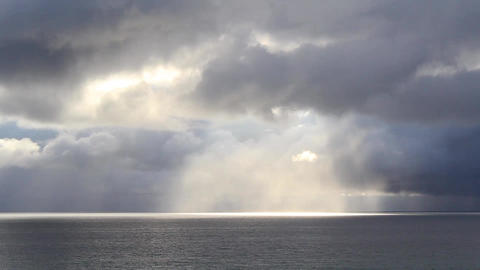 Rainfall on the Ocean Stock Video Footage