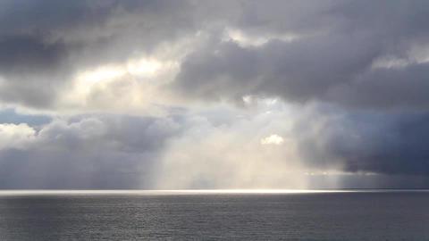 Rainfall on the Ocean Stock Video Footage