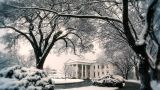 white house winter Footage