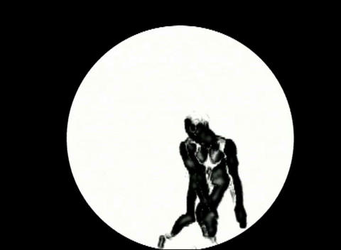 Art dance man in a white circle Stock Video Footage