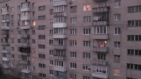 sunset apartment Stock Video Footage