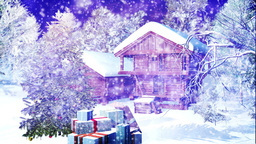 Christmas Snowy Scene 09 snowing Animation