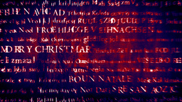 Merry Christmas MultiLingual Design v1 06 Stock Video Footage