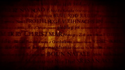 Merry Christmas MultiLingual Design v1 01 Stock Video Footage