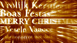 Merry Christmas MultiLingual Design v3 01 Stock Video Footage
