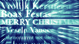 Merry Christmas MultiLingual Design v3 03 Stock Video Footage