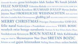 Merry Christmas MultiLingual Minimal Design 03 multicolor Animation