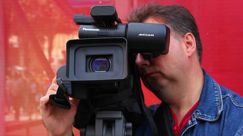 Photographer at work 3 Stock Video Footage