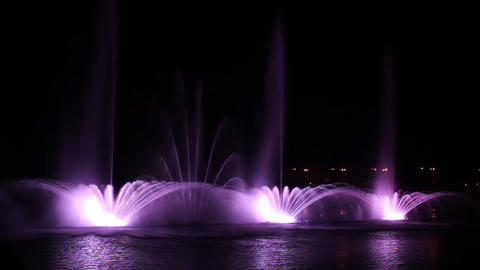 Musical Fountain 30 Stock Video Footage