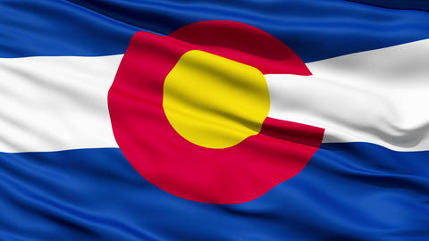 Waving Flag Of The US State Of Colorado Stock Video Footage