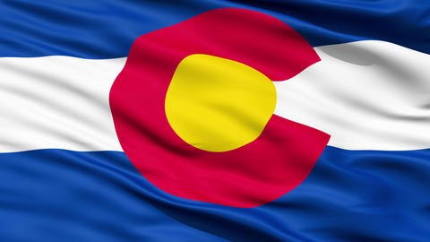 Waving Flag Of The US State Of Colorado Animation