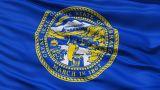 Waving Flag Of The US State Of Nebraska stock footage
