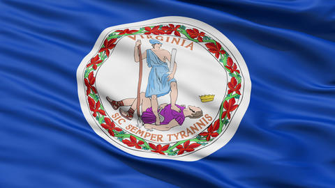 Waving Flag Of The Commonwealth Of Virginia Animation