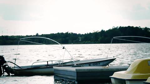 boat docks Stock Video Footage