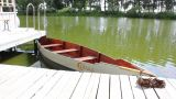 Boat On The River 1 stock footage