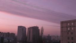 sunset urban scene Stock Video Footage