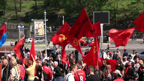 Communist political meeting Footage