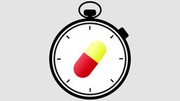 Stopwatch Medical Pill Turning Animation