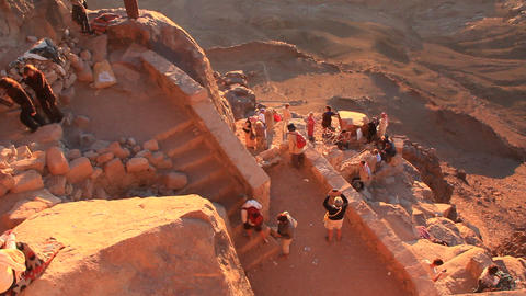 Sunrise. Mount Sinai. Egypt stock footage