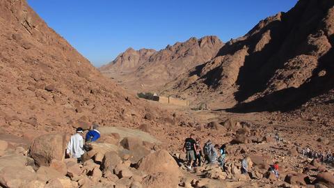 Pilgrimage. Saint Catherine's Monastery. Sinai Peninsula. Egypt. Full HD Footage