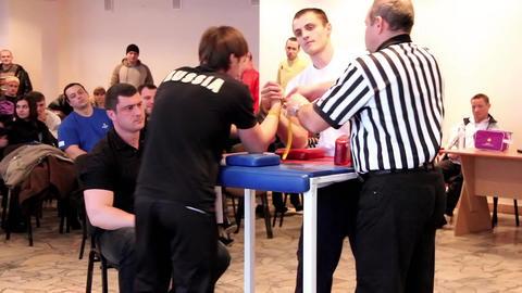 Arm wrestling Footage