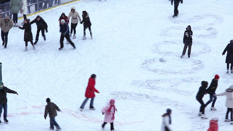 People on skating rink Live Action