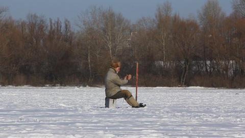 Winter fishing Footage