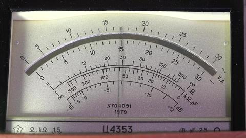 Pointer instrument multi-meter. Tester. 4K Footage
