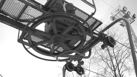 Hoist, Mechanism, chain, gear. 4K Footage