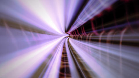 Flight in abstract tunnel - 4K Animation