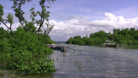(timelapse ) Sleepy Lagoon Cky Clouds stock footage