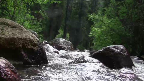 Over The Edge Of Waterfall stock footage