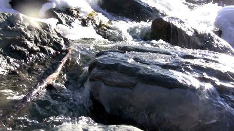 (Seamless Loop) Winter Creek Amazing View stock footage