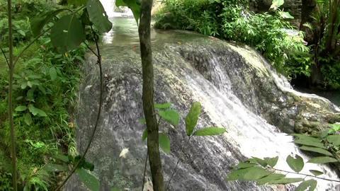 (Seamless Loop) Viewing Rock Waterfall At Its Fine Footage