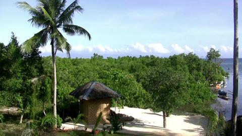 (Seamless Loop) White Sand Beach Island. Professio stock footage