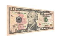 Ten American Dollar Bill Rotating Footage