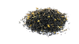 Black dry tea with petals Footage
