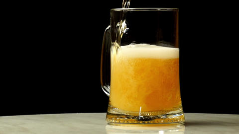 Beer is Poured into a Glass Footage