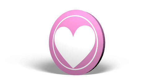 Pink Heart Coin-Medal Rolling stock footage