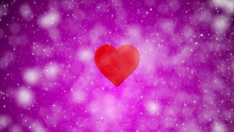 Valentines Day Glitter Purple Loop Animation