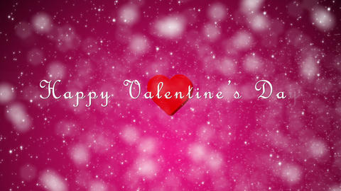 Valentines Day Glitter Pink With Text Loop stock footage