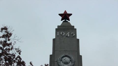 Memorial in honor of Soviet soldiers Footage