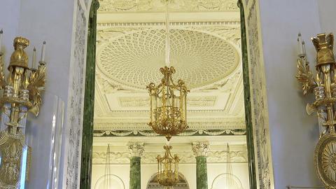 Halls of Pavlovsk Palace. Pavlovsk, Saint-Petersbu Footage