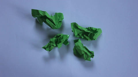 stop motion green paper opening Footage